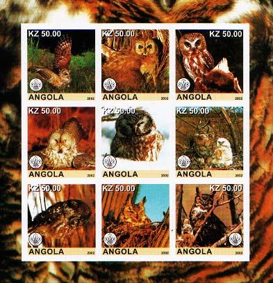 Angola Owls Imperf