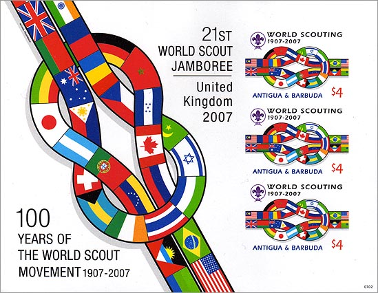 Antigua Barbuda 100 Years of Scouting Imperf
