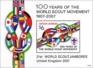 Antigua Barbuda 100 Years of Scouting SS