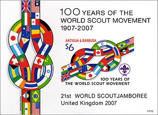 Antigua Barbuda 100 Years of Scouting SS Imperf
