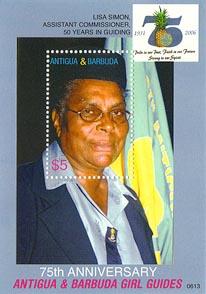 Antigua Barbuda 75th Girl Guide A