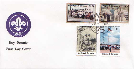 Antigua Barbuda 90th FDC A