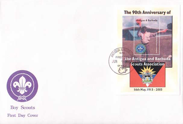 Antigua Barbuda 90th FDC B