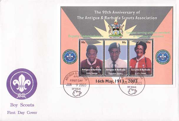 Antigua Barbuda 90th FDC C