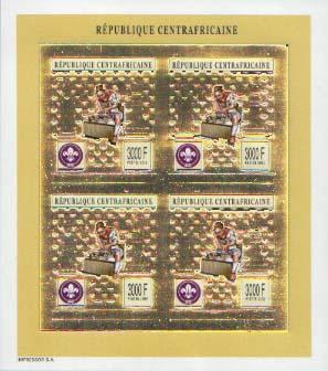 Central Africa Gold Foil Imperf