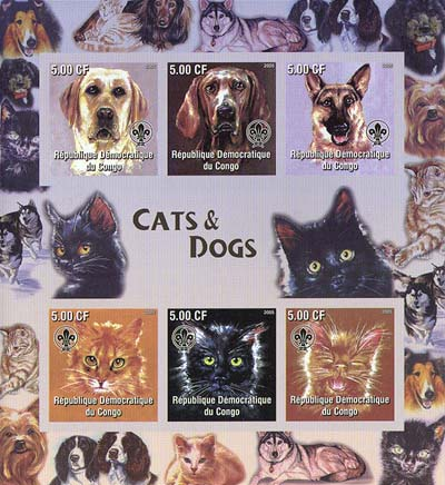 Congo Cats & Dogs Imperf