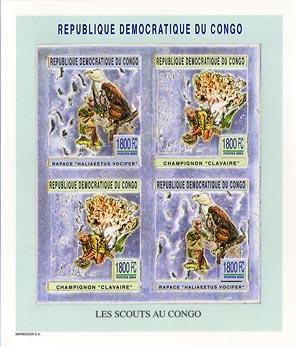 Congo Fungi & Bird Silver Imperf