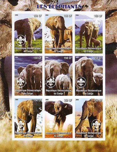 Congo Elephant 2004 Imperf