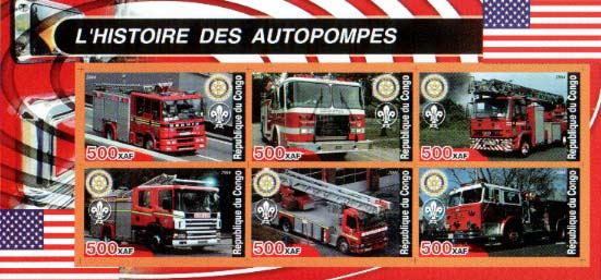 Congo Historic Fire Truck A Imperf