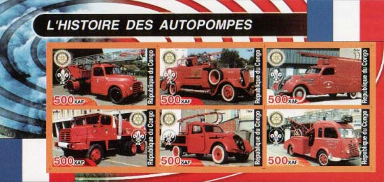 Congo Historic Fire Truck B Imperf