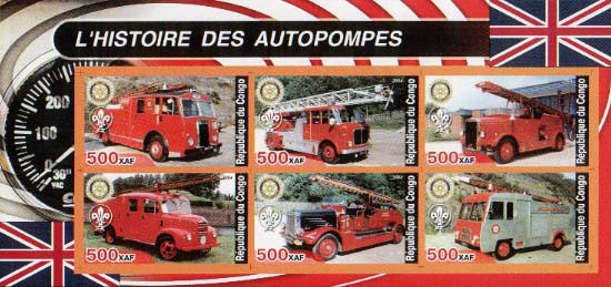 Congo Historic Fire Truck C Imperf