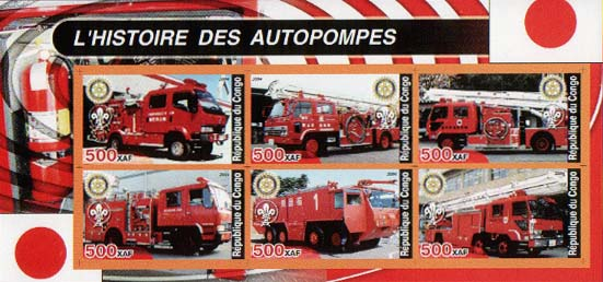 Congo Historic Fire Truck D Imperf
