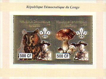 Congo Baden-Powell and Owls 500 Imperf