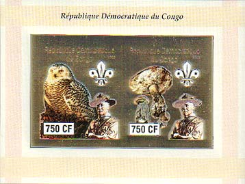 Congo Baden-Powell and Owls 750 Imperf