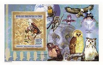 Congo Owl Gold Foil Imperf