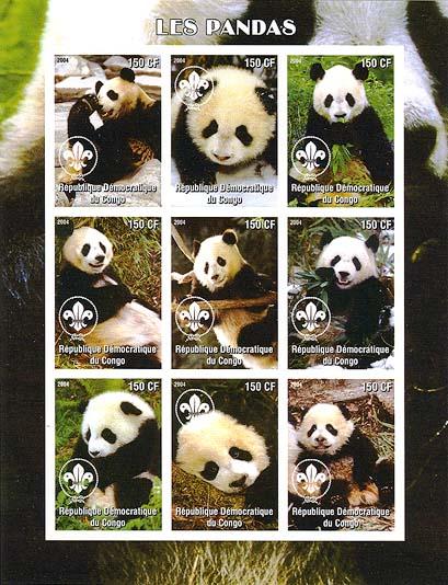 Congo Panda 2004 Imperf