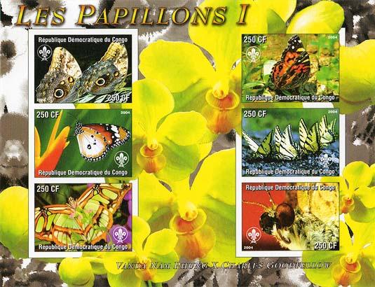 Congo Papillon 1 Imperf