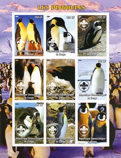 Congo Penguin 150 Imperf